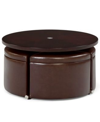 Neptune Coffee Table with Storage Ottomans Furniture Macys IN