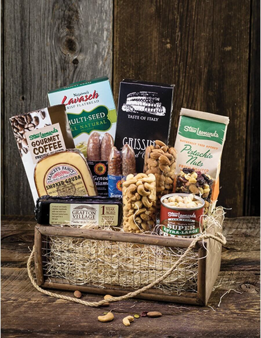 Stews wow huge gourmet gift basket with meat cheese and nuts stews wow huge gourmet gift basket with meat cheese and nuts stew leonards gifts negle