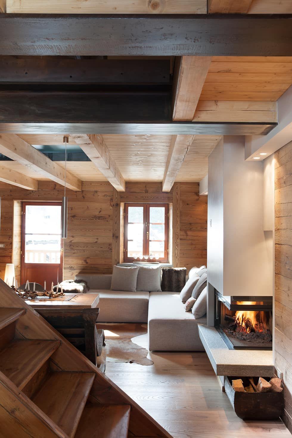 Un caldo chalet di design archstudiodesign soggiorno in ...