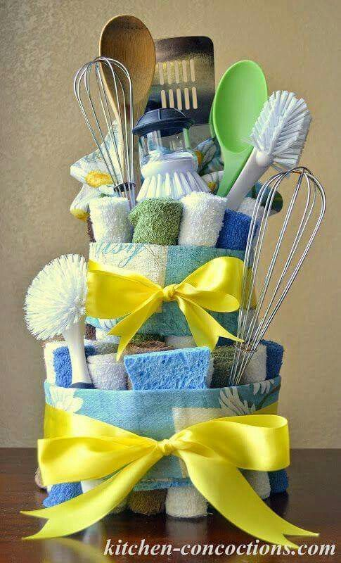Kit De Limpieza Dish Towel Cakes House Warming Gift Diy House