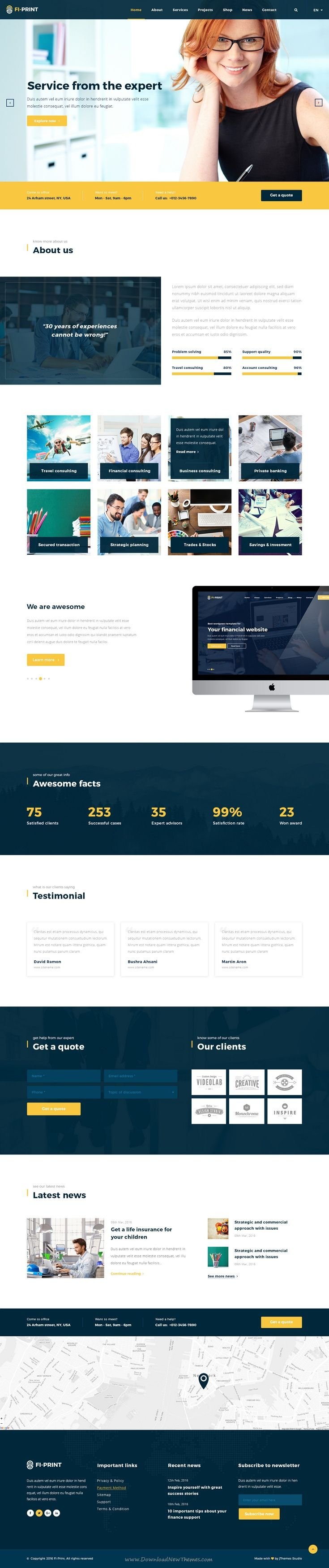Fi print business finance psd template pinterest tax help fi print premium business finance psd template is best suited for corporate website like financial advisor accountant consulting firms insurance accmission Image collections