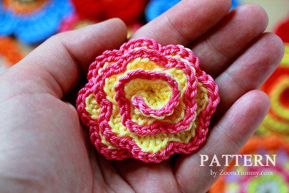 Crochet Patterns - Big Flower Party (Pattern No. 001) - INSTANT ...