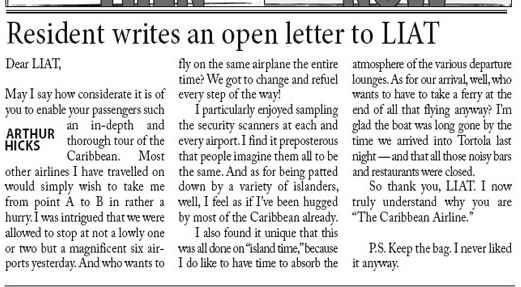 The outraged traveller - complaint letters