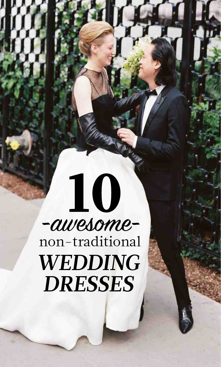 16 (Awesome) Nontraditional Wedding Dresses Traditional