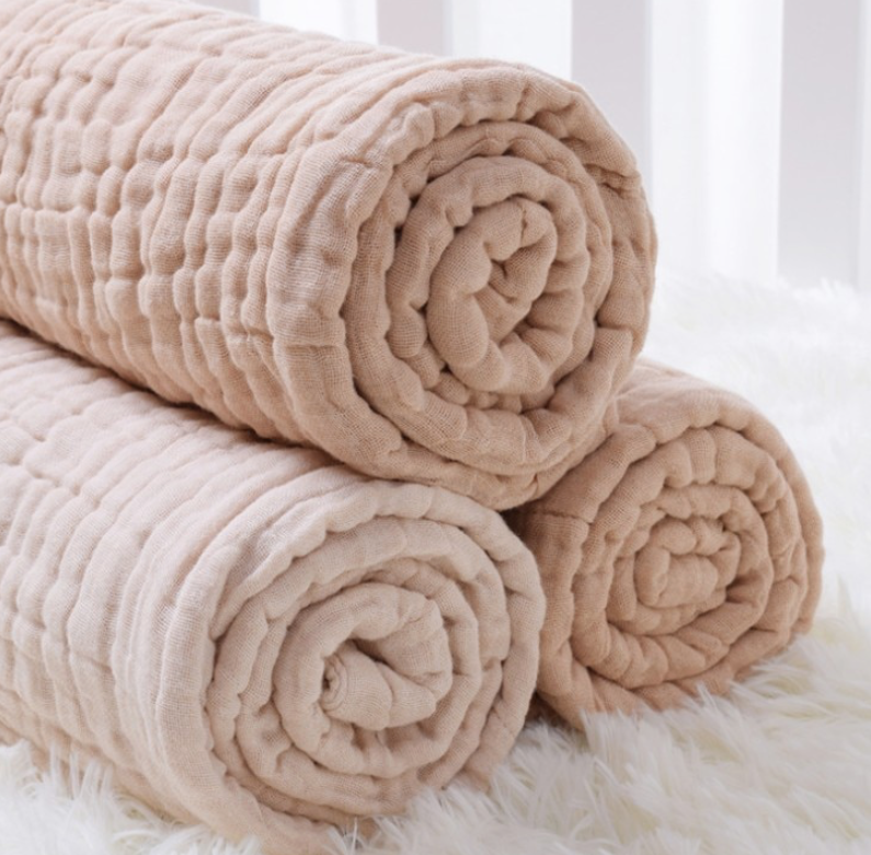100% Organic Cotton Baby Swaddle Blankets