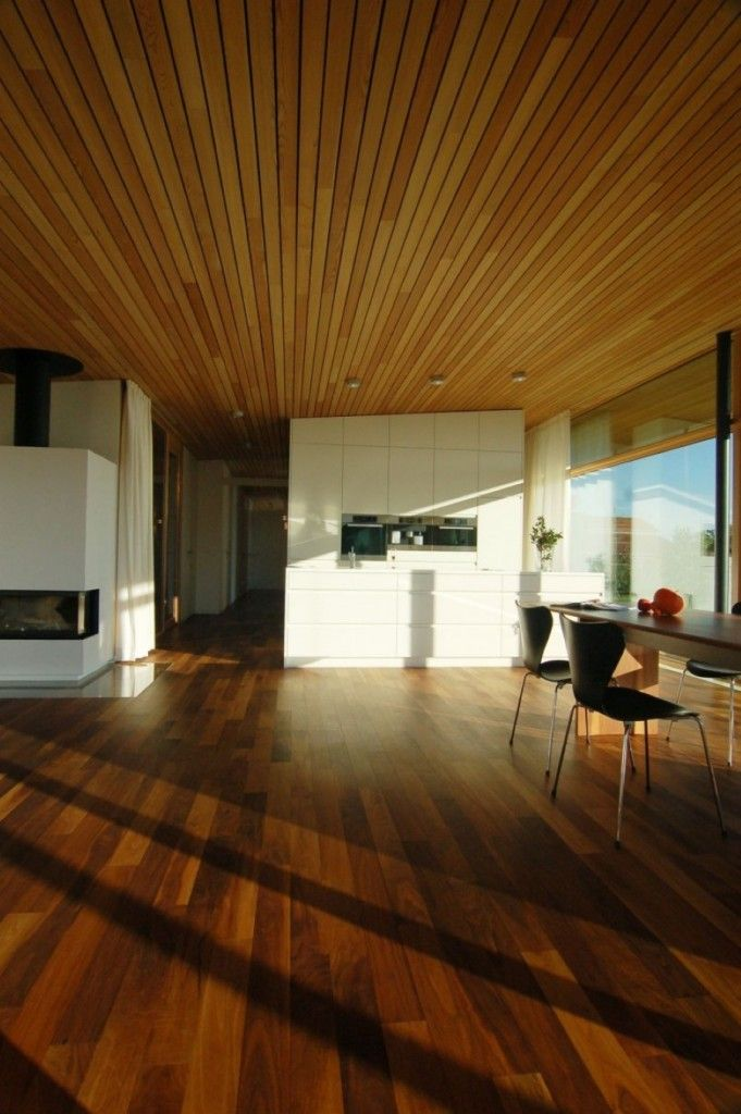 Light Wood Paneling: Wooden Ceiling Panels And Tiles Inspiration