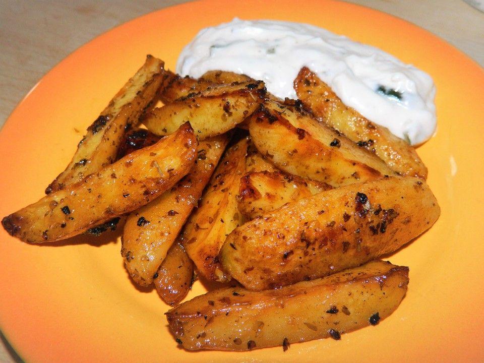 Griechische Knoblauchkartoffeln #kartoffeleckenrezept