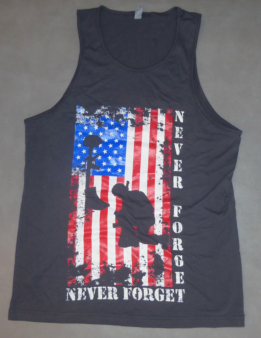 d8d7244460901 Christian Tank Top- Never Forget Veterans Tribute version two(2 color  options) Christian T-shirt- Never Forget Veterans Tribute version two.