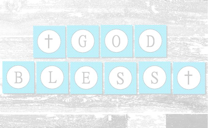 Baby Boy Baptism Banner Free Printable A Slice Of Ky