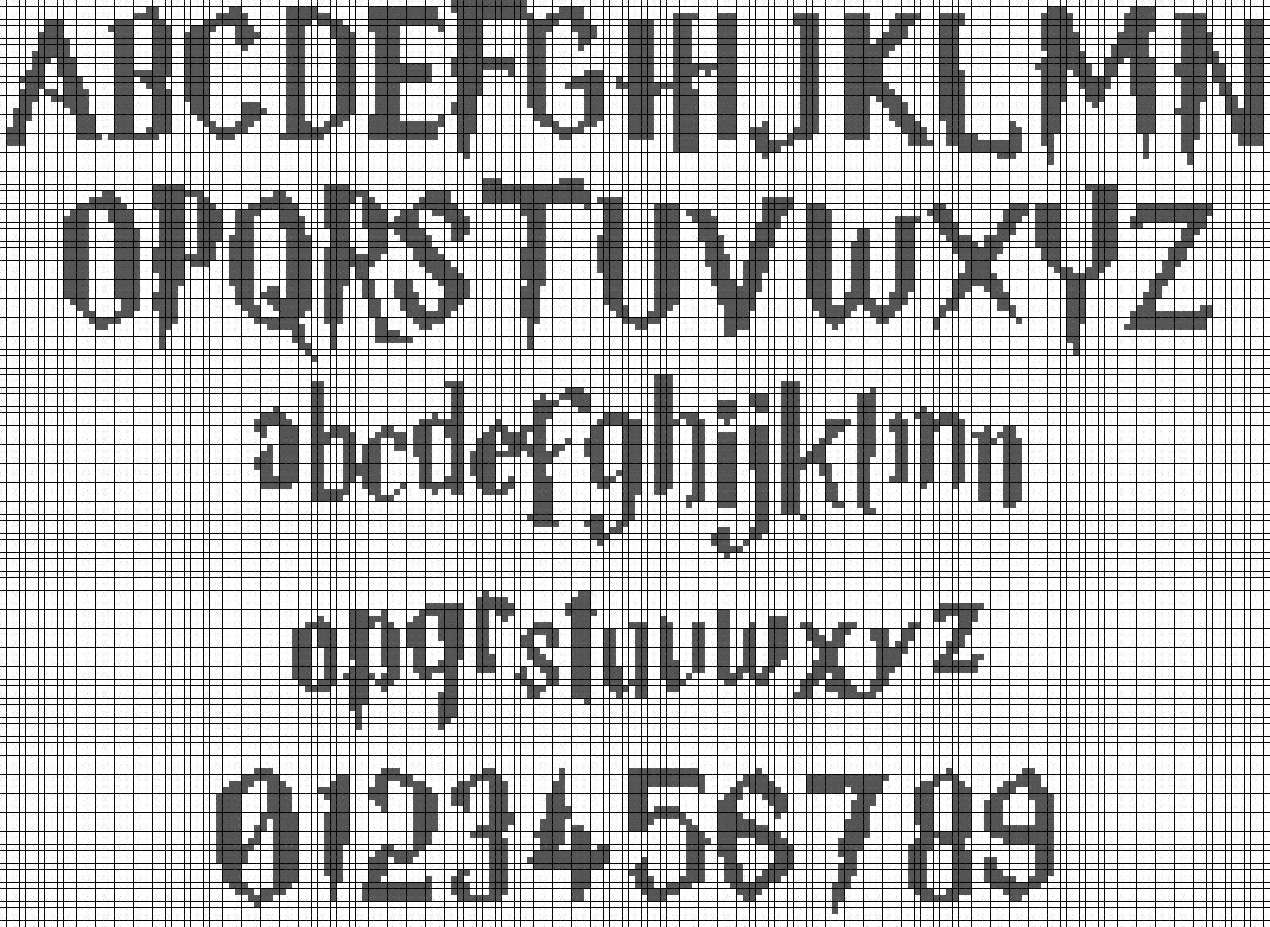 Alpha Friendship Bracelet Pattern 594 Added By Admin Font Letter Lette Cross Stitch Alphabet Patterns Simple Cross Stitch Harry Potter Cross Stitch Pattern