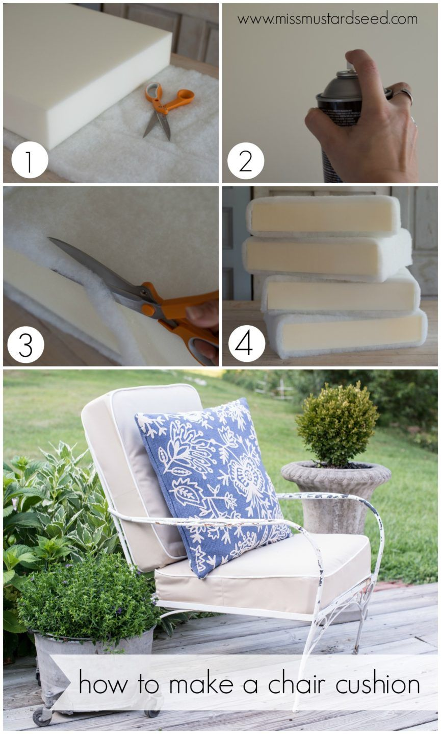 How To Make A Chair Cushion Deck Chair Makeover In 2020 Diy Outdoor Cushions Diy Patio Cushions Outdoor Patio Chair Cushions