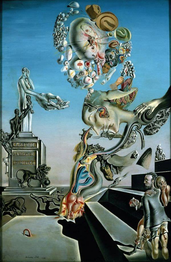 Reproduction De Dali Le Jeu Lugubre Tableau Peint A La Main Dans Nos Ateliers Peinture A L Huile Sur L Art Salvador Dali Peintures Dali Salvador Dali Oeuvre
