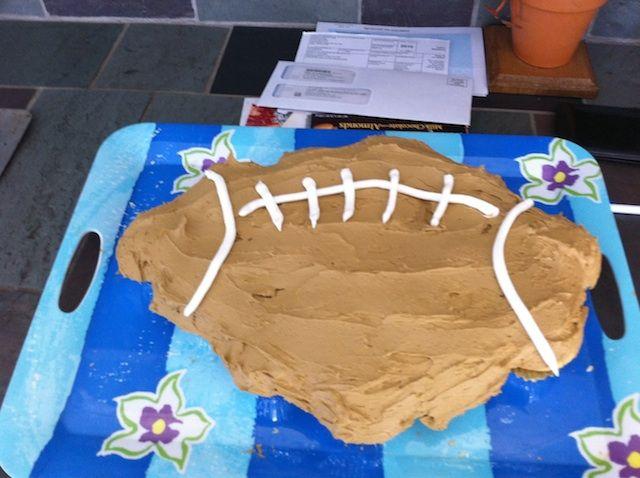 Football Cake Nailed It Football Cake Cake Fails Superbowl Snacks