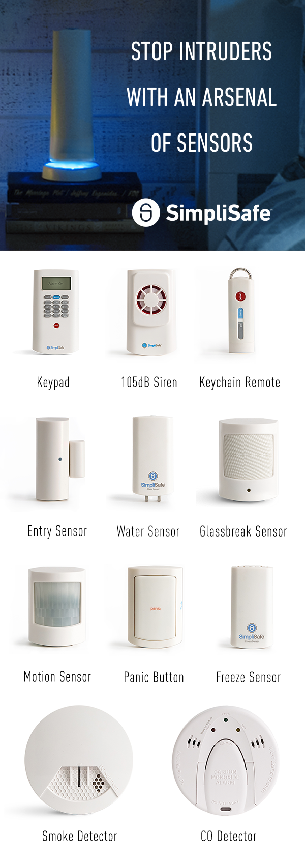 Simplisafe Was Built With Renters In Mind It Won T Damage Your Walls You Can Take It With You When You Move Home Safety Home Security Systems Home Security