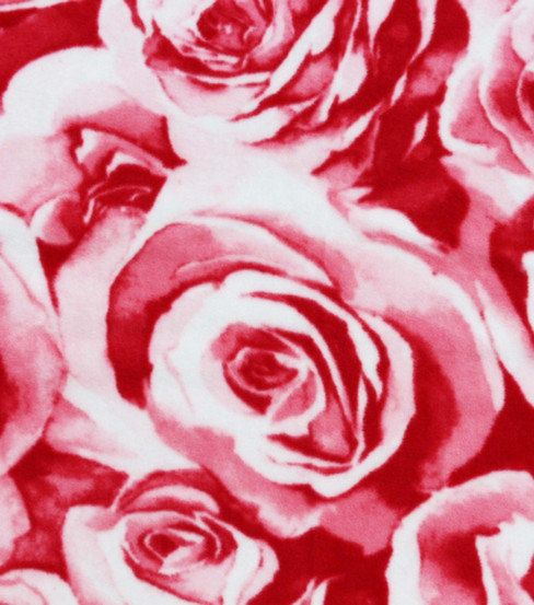 Rose Flower Print  Custom Made Fleece Blanket by RolanisWonderland, $31.00