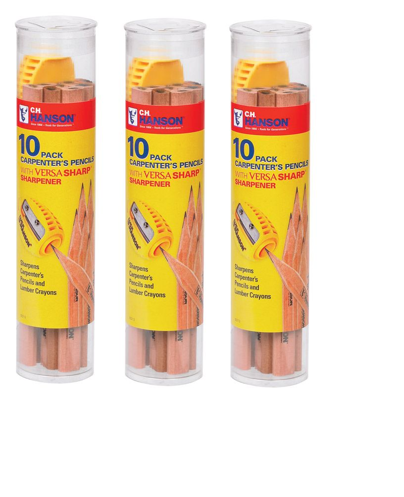 Details About 3 Pack C H Hanson 8 5 In L X 2 In W Carpenter S Pencil And Sharpener Beige Carpenters Pencil Sharpener Pencil Sharpener