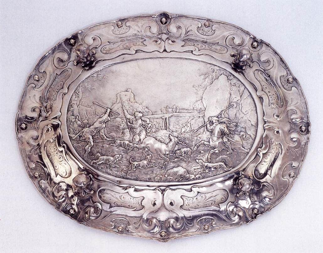 Пауль ван Вианен, серебряное блюдо.