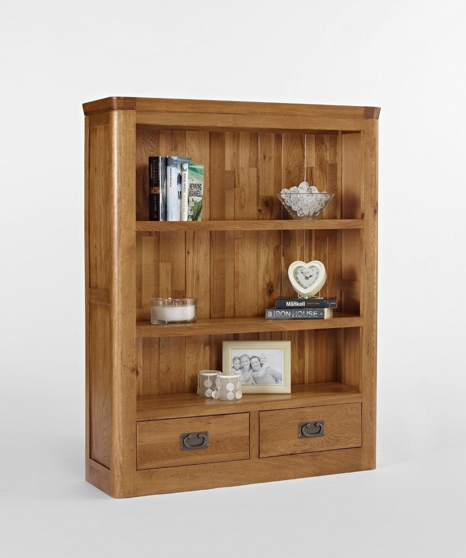 Knightsbridge Oak Small Bookcase With Drawers The Knightsbridge