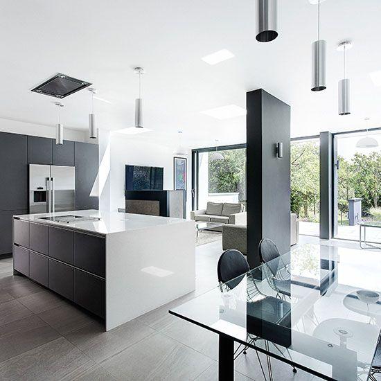 Openplan Kitchen Design Ideas  Open Plan Kitchen Window Wall New Open Living Kitchen Design Design Ideas