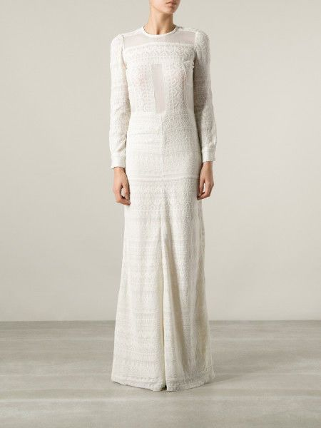 Isabel Marant Talma Embroidered Wedding Dress Gown Size Us 12 Fr42 Isabelmarant