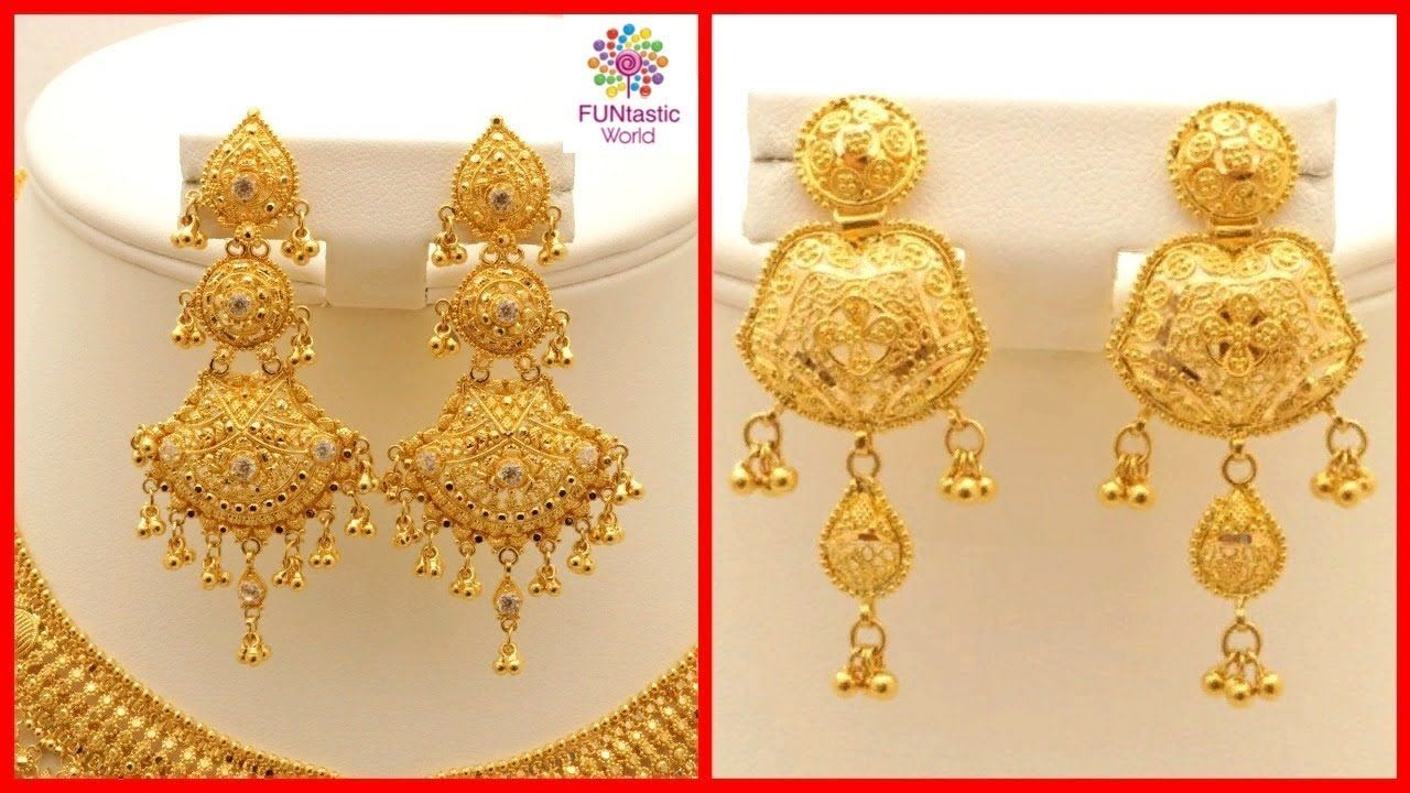 fee752b4b765b Latest Gold Earrings / Jhumkay Designs with Weight | Jewelry Fashion ...