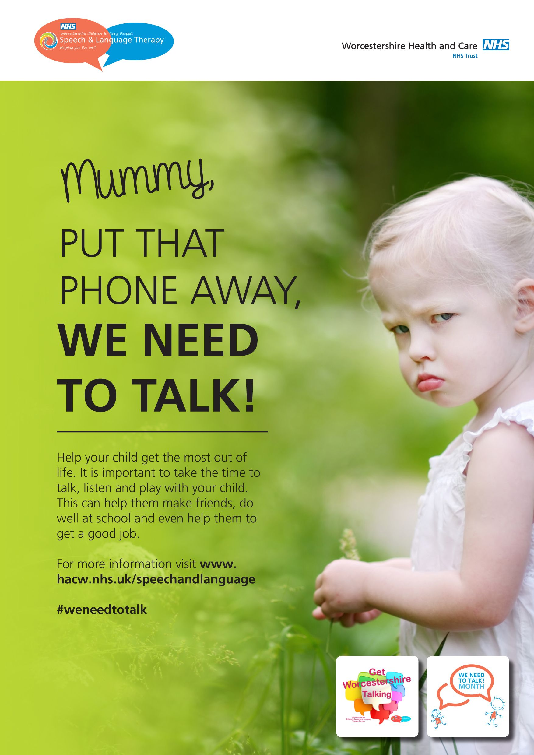 We Need To Talk About Kids And >> Language Development Awareness Poster From The We Need To