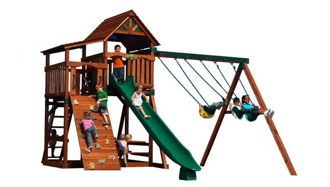 Titan Treehouse 1 Play set shown with: 3 Position Turbo ...