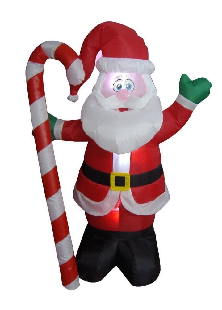 Lighted inflatable 4 foot santa claus christmas indoor for 4 foot santa claus decoration