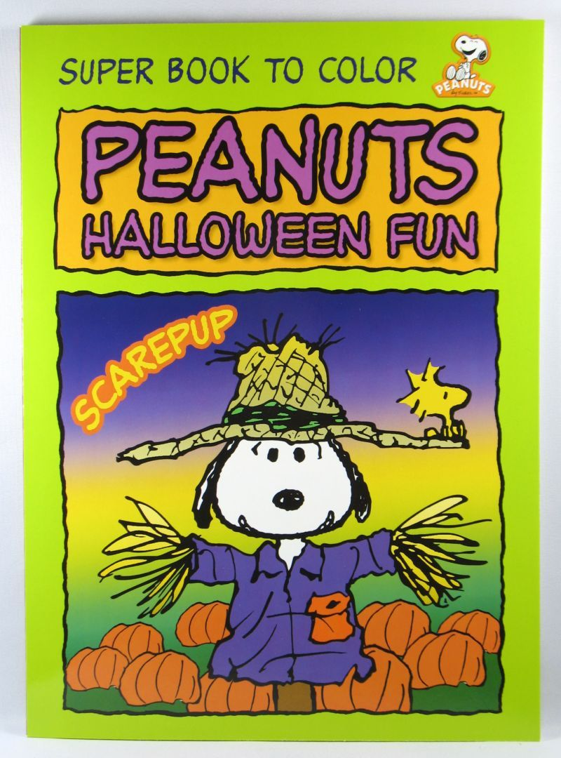 Snoopy Scarecrow (With images)   Halloween coloring book ...