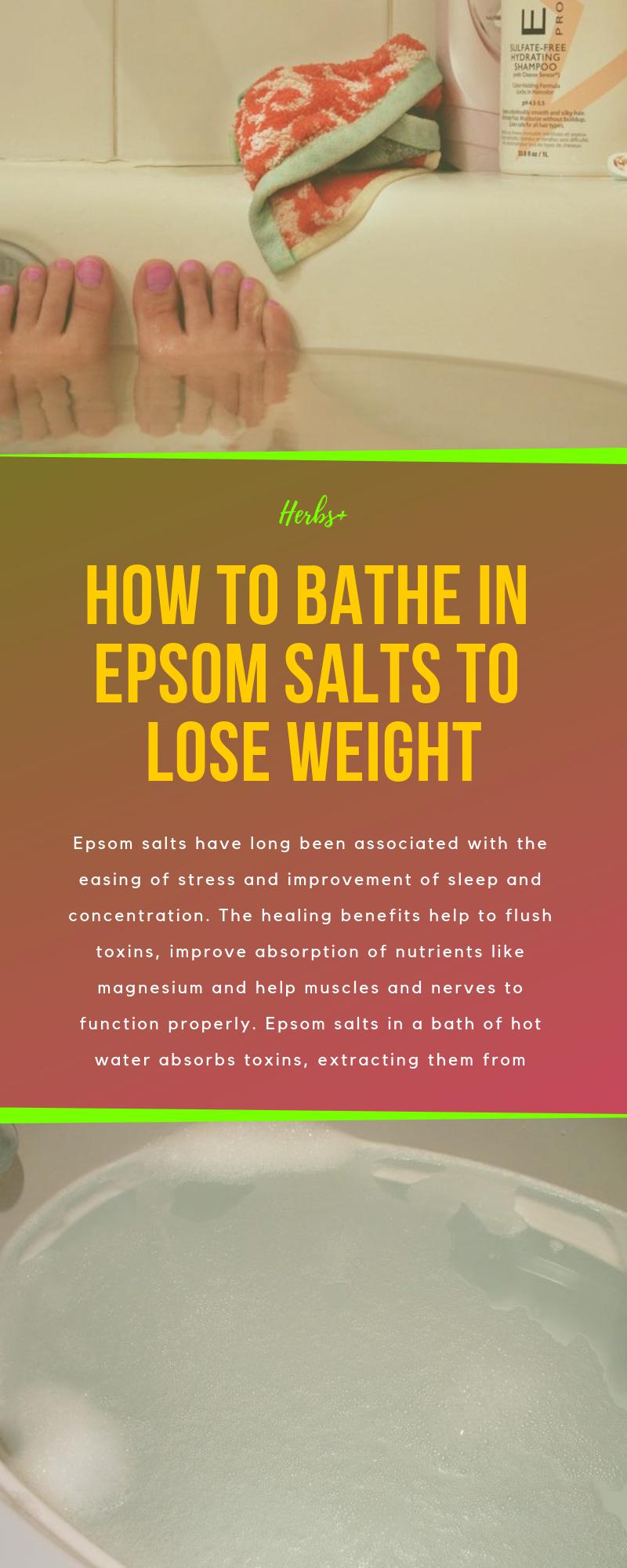 epsom salt bath to lose water weight