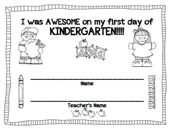 Printables First Day Of Kindergarten Worksheets 1000 images about kindergarten first week on pinterest day of school name activities and week
