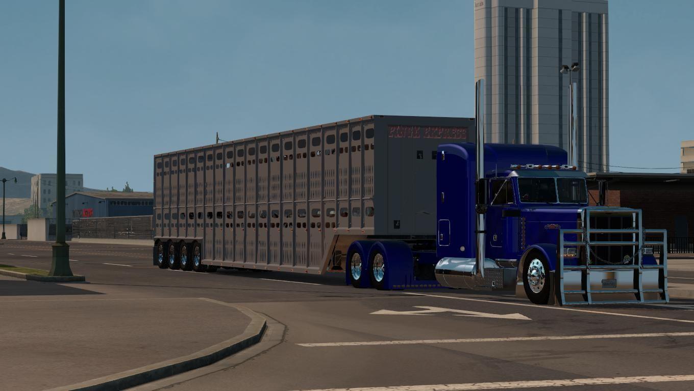 LIVETOCK 4EIXO V1 0 TRAILER - American Truck Simulator mod