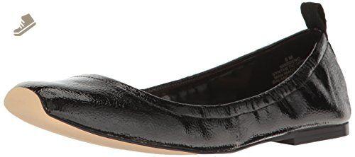 eaf2dfe12c616 Nine West Women's Zdeno Patent Ballet Flat, Black, 12 M US - Nine ...