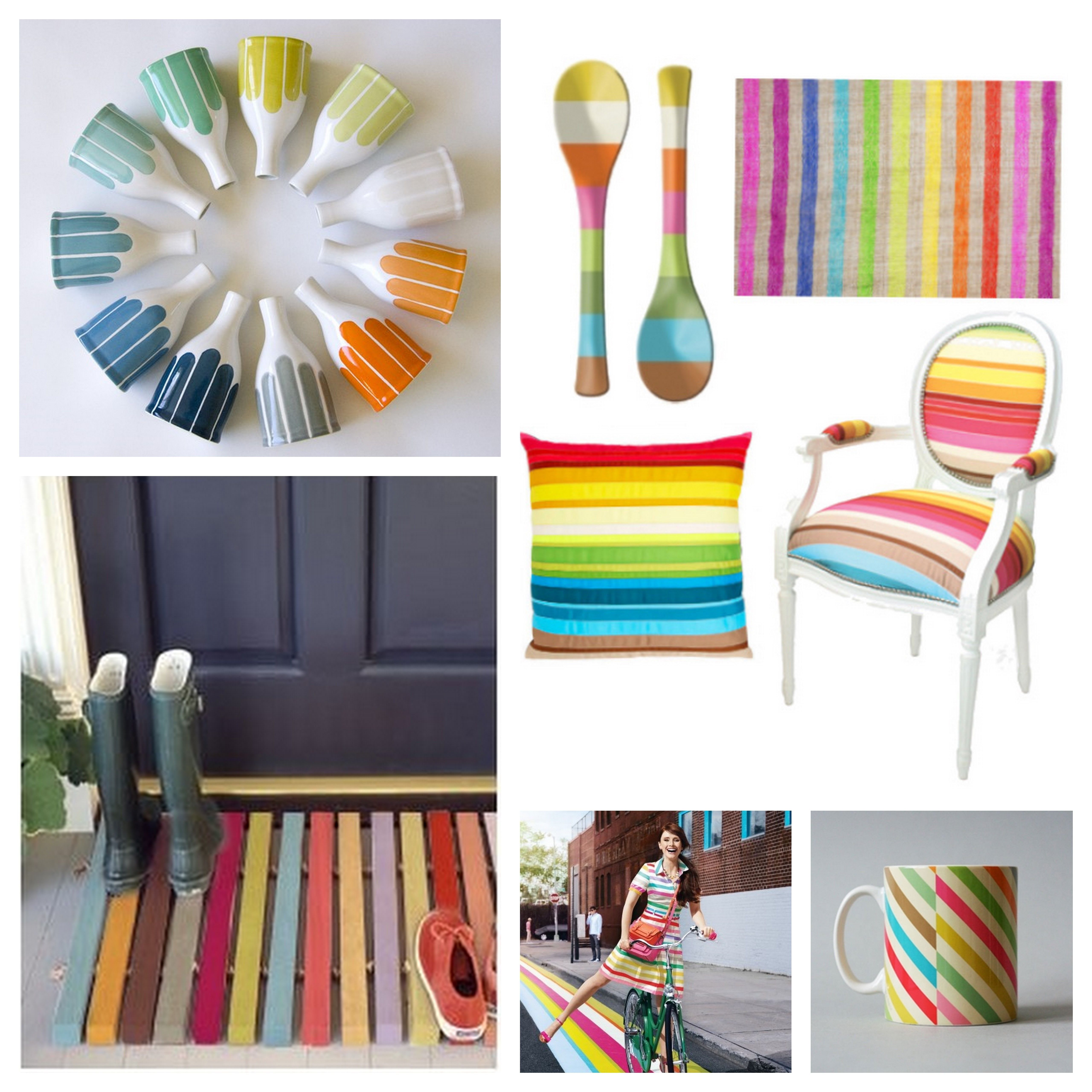 a burst of colored stripes earnest home co - Diy Home Decor Accessories