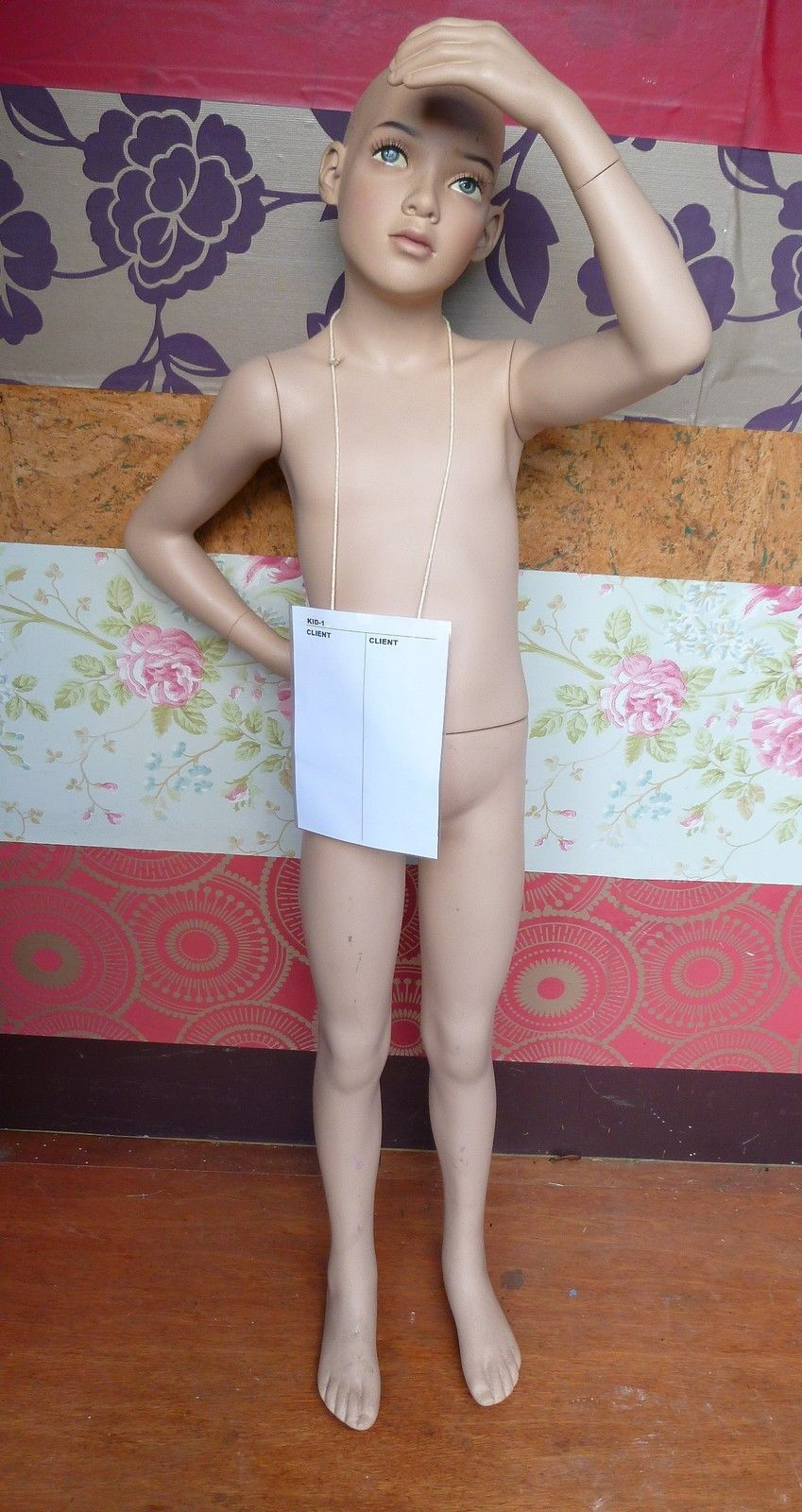 Mannequin Child Standing Flexible Unisex R-06 (Set of 2) - A Mannequin Store