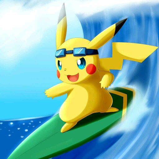 Image result for surfing pikachu pinterest