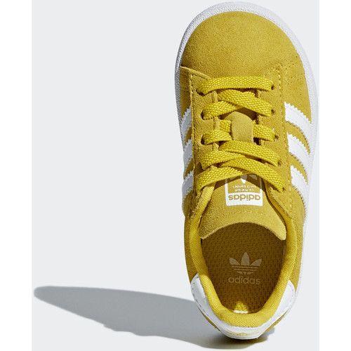 big sale c2a9d ad0dd Chaussures Enfant Baskets basses adidas Originals Chaussure Campus Jaune   Blanc  Blanc