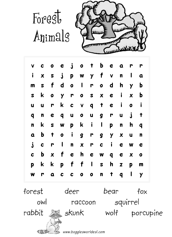 Animals Crossword Puzzle Worksheet Free Esl Printable