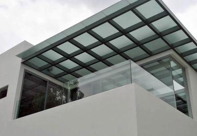 Domo para terraza terrazas pinterest terrazas for Tejados de herreria