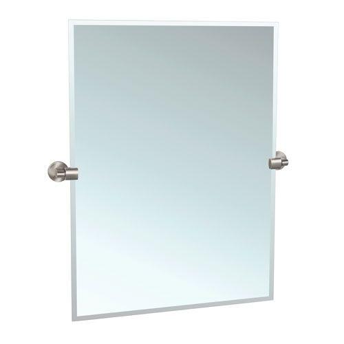 Gatco Zone Satin Nickel Tilting Rectangular Mirror