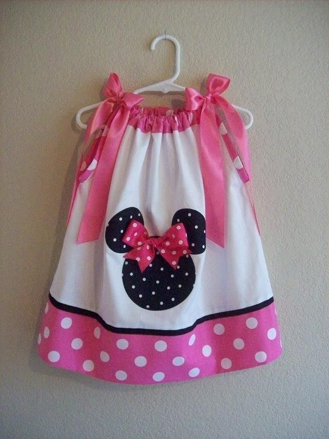 Custom Boutique Pillowcase Dress  MINNIE MOUSE  by AnnMargrock, $26.99