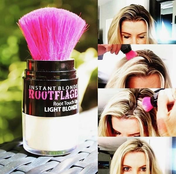Light Blonde Temporary Root Touch Up Hair Powder Concealer-Temporary ...