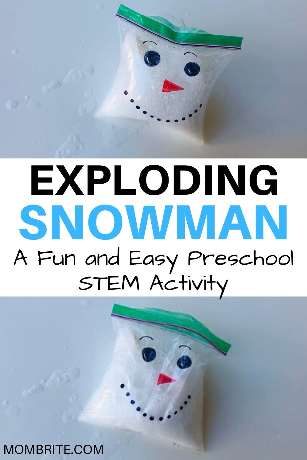The Exploding Snowman Science Experiment #scienceexperimentsforpreschoolers