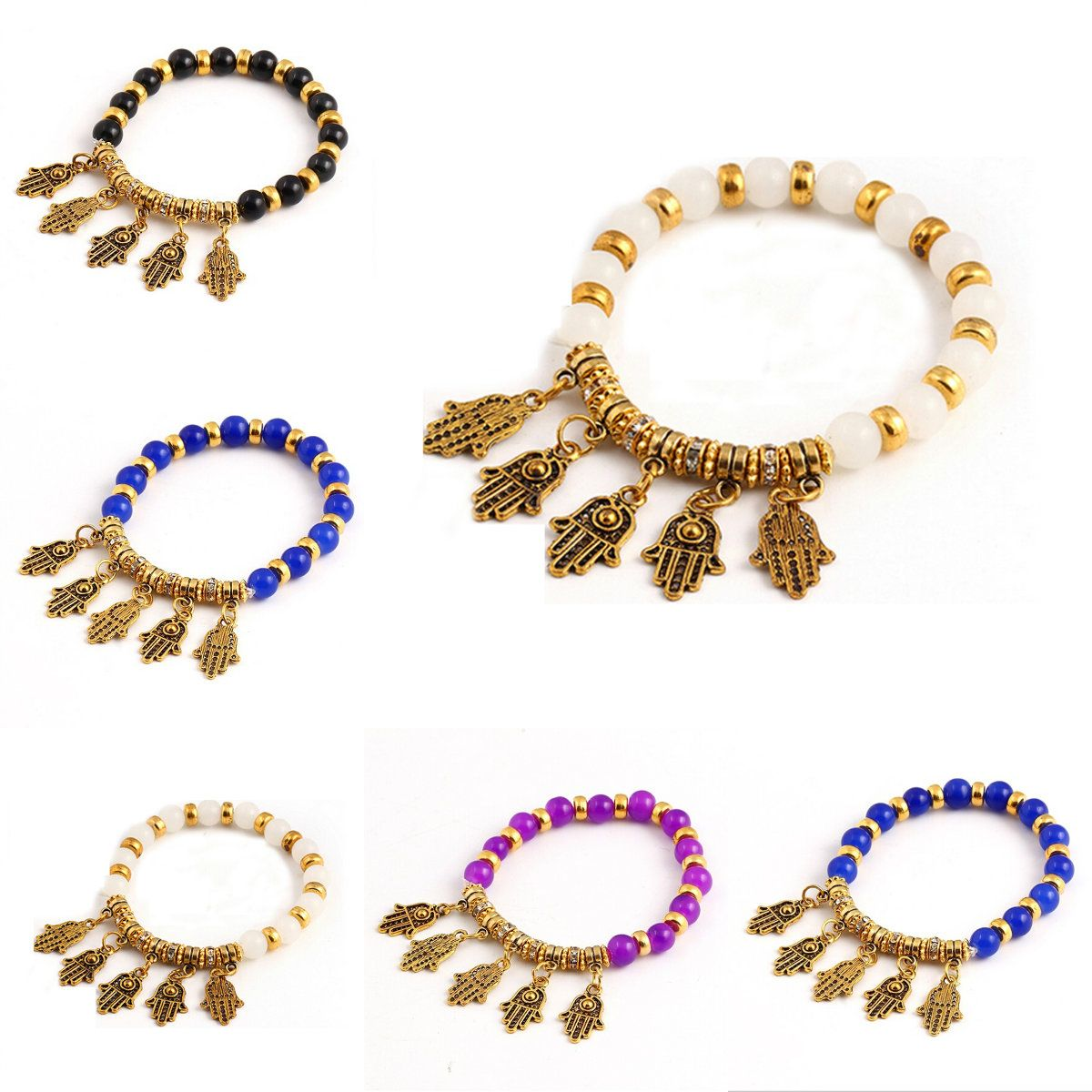 Brand designer new women colors vintage bracelet crystal alloy