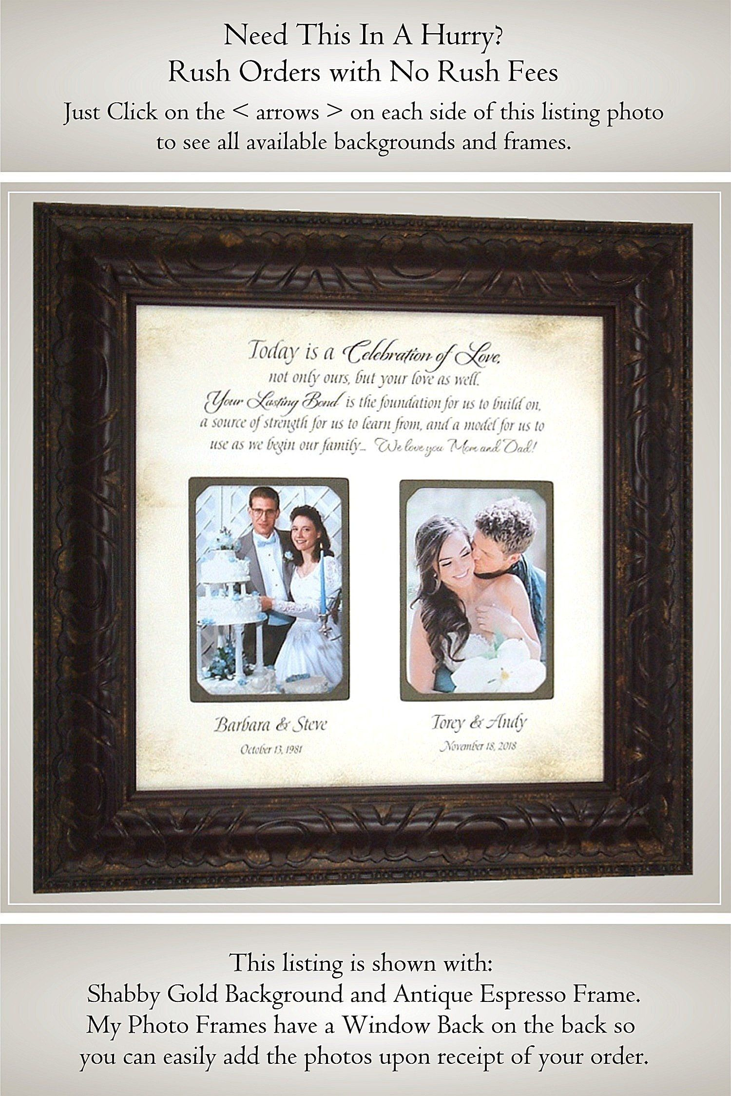 Wedding Gift Parents Personalized Wedding Gift Parents Bride Gift To