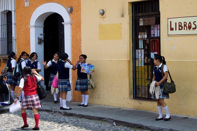 Schoolgirls in Antigua Guatemala by Jan Dobrovský, via Flickr