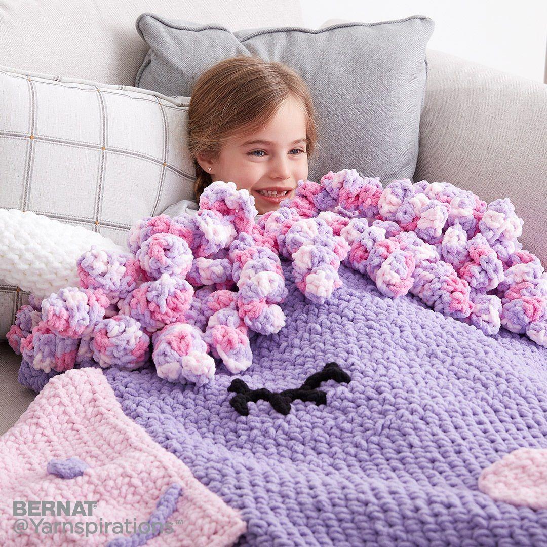 Crochet Unicorn Snuggle Sack | Free Pattern | Yarnspirations | DIY ...