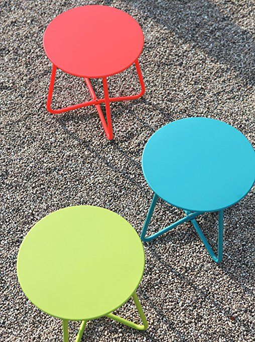 Amazon Com Grand Patio Steel Patio Coffee Table Weather Resistant Outdoor Side Table Small Round End T Patio Side Table Outdoor Side Table Round End Tables