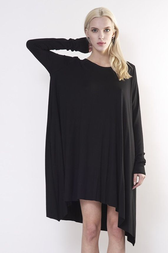 073cff39b4a Plus Size Women S Kayak Clothing Code  2713335678. Black oversize dress    Black cotton dress   Black loose by DIDRESS