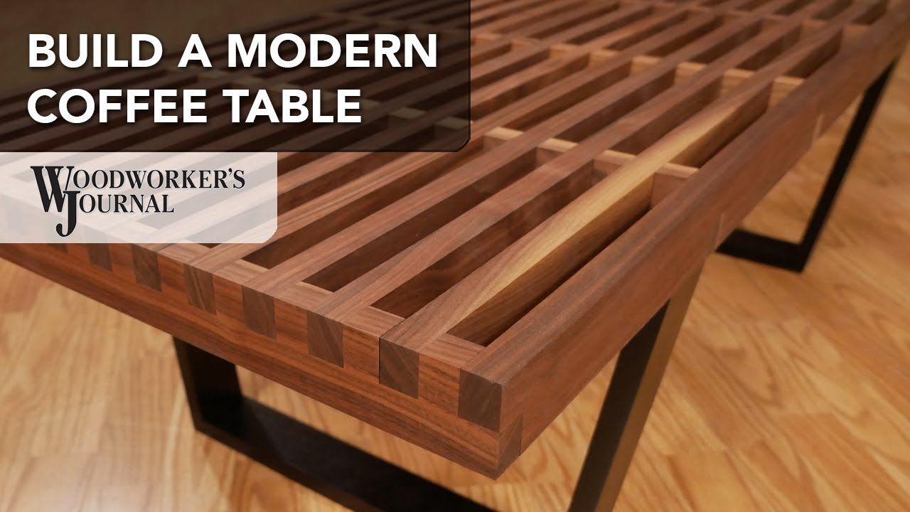 Build A Modern Coffee Table With Cross Lap Joints Powermatic Woodworki Modern Woodworking Projects Free Woodworking Plans Furniture Diy Coffee Table Plans [ 720 x 1280 Pixel ]